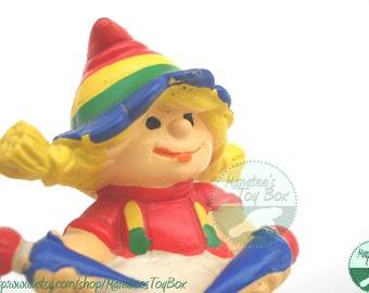 1980s Toy Rainbow Kids PVC Drummer Girl
