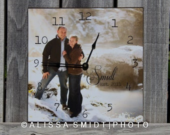 Custom Photo Clock Created with Your Photograph - Wall Clock, Desk Clock, Custom Clock, Hanging Clock, Display Clock, 12 inch x 12 inch