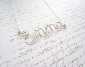 Silver Wire Necklace, Name Necklace, Customized Jewelry, Swedish Jewelry, Made in Sweden, Scandinavian Jewelry Design