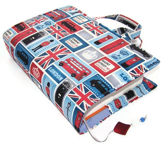 SALE - Book Cover Bag LONDON ICONS