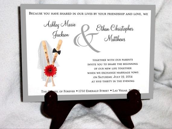 Baseball Wedding Invitation: 150 Baseball Wedding Invitations RSVP's By