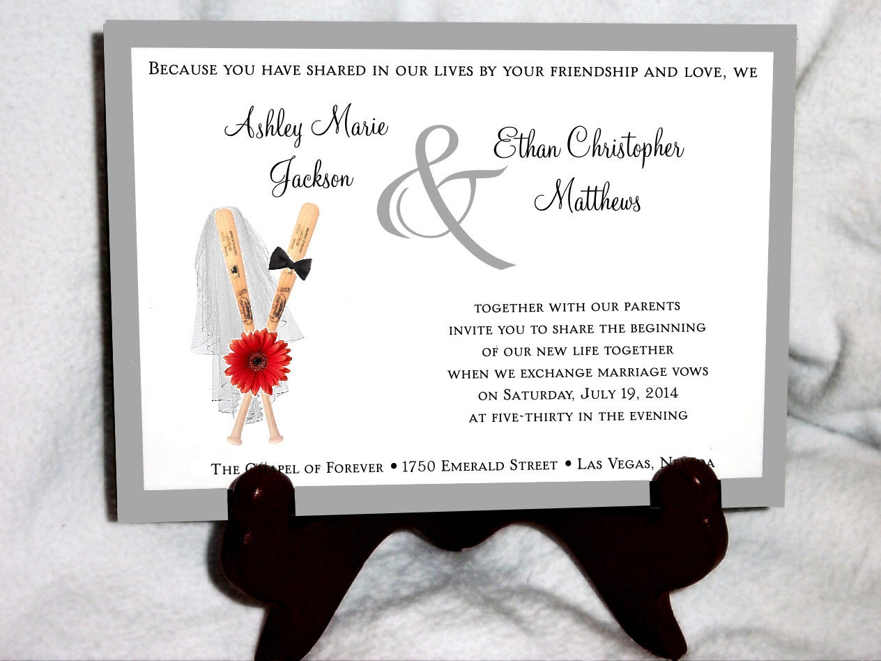 Baseball Wedding Invitations for your inspiration to make invitation template look beautiful