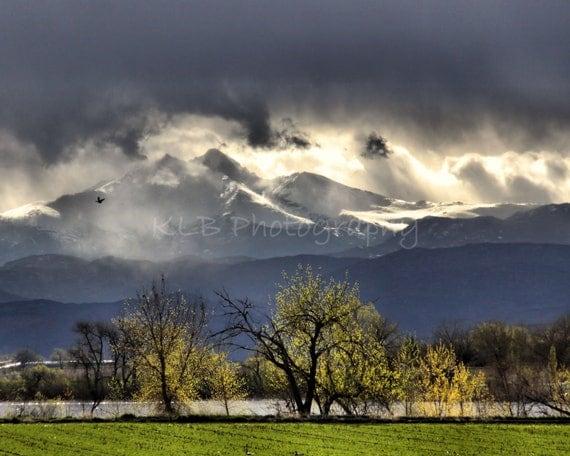 Long's Peak Mountain Storm - Colorado Landscape Photography