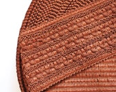 "4""inches (7.5cm) Reddish Brown Textured Cotton Stretch Elastic Band"