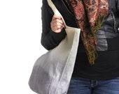 Extra Large 100% Organic Dip Dyed Tote Bag.