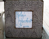 Shabby patterned picture frame