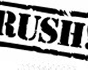 RUSH Turnaround Service for your lil threadz order