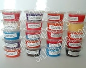 Soy Blend Wax Tart Shot Sampler Pack.  8 2oz Tart Shots in Fruity Scents.