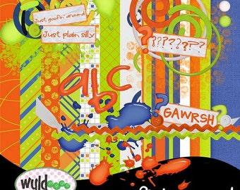 """Goofy Digital Scrapbooking Kit """"Goofin' Around"""" kit"""