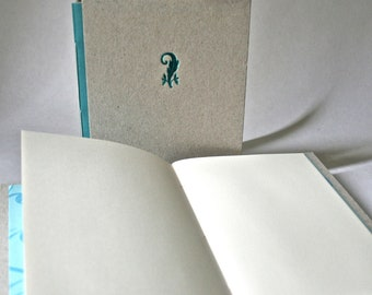 Hardcover Handmade Book With Letterpress Stamped Cover for Stocking Stuffer Hostess Gift Writing Sketching