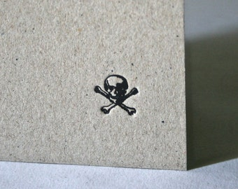 Hardcover Handmade Book with Black Pirate Skull for Sketching Drawing Writing