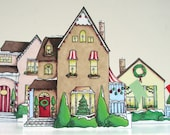 Christmas village ... paper holiday decoration