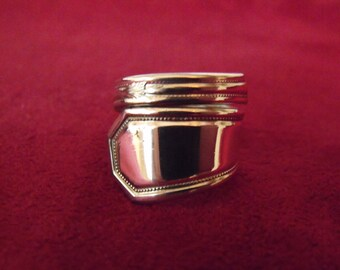 Spoon Ring Sliver Size  9 US Antique Womens Gift  Handmade