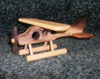 Small hardwood float plane
