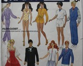 1980s McCalls Pattern / Vintage 11 1/2 Inch 1984 Fashion Doll Clothes Pattern / McCalls Pattern 9316