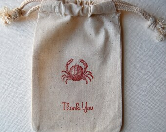 Crab Party Favor Bags / Set of 25/ Wedding Favor Bags / Birthday Favor Bags