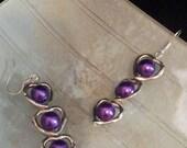Sailor Moon Jewelry - OOAK Cosplay - Princess Hearts earrings - Saturn