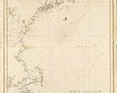 1776 Nautical Chart of The New England Coastline