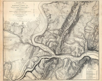 1863 Map of Harpers Ferry