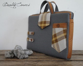 Customizable for Color Fabric and Sizes Laptop Bag - Briefcase Laptop Bag - fully PADDED bag - Waterproof lining - exterior Large POCKET