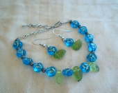 Bracelet and earrings set. On sale, plus free shipping. Ready to ship.