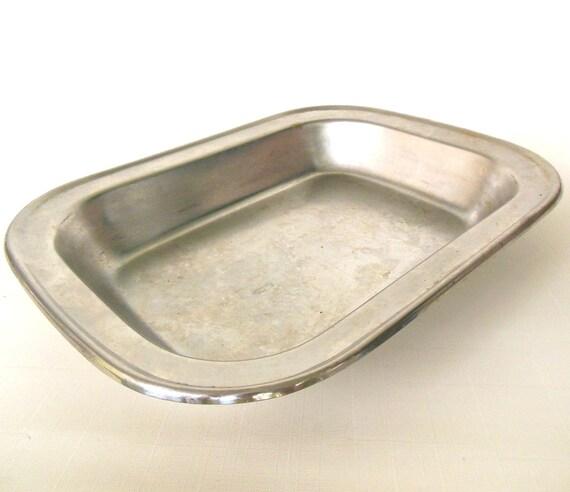 Small Broiler Pan Meat Tray Rack Stainless Steel Vintage