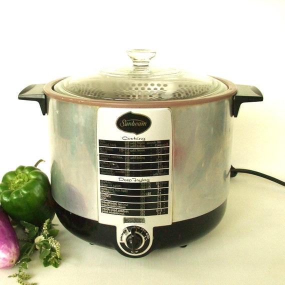 Vintage Sunbeam Deep Fryer / Cooker Small Appliance
