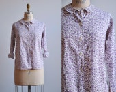 1950s Blouse / Pennsylvania Dutch Blouse / Peter Pan Collar Blouse