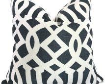 Blue Imperial Trellis Decorative Pillow Covers 18x18, 20x20 or 22x22 Eurosham or lumbar Kelly Wearstler pillow, accent pillow, throw pillow