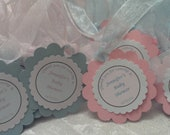 CUSTOM LISTING for Michelle - Baby Shower Favor Tags - Party Favor Tags -  Baby Shower Favor Tags