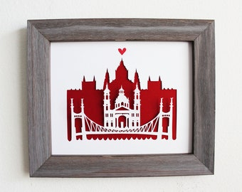 Budapest, Hungary - Personalized Gift or Wedding Gift
