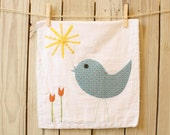 Flour Sack Dish Towel, A Birdie Dish Towel