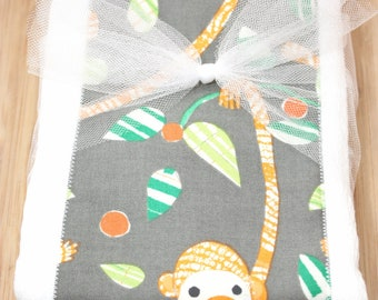 SALE Modern Monkey Set of 2 Burp Cloths