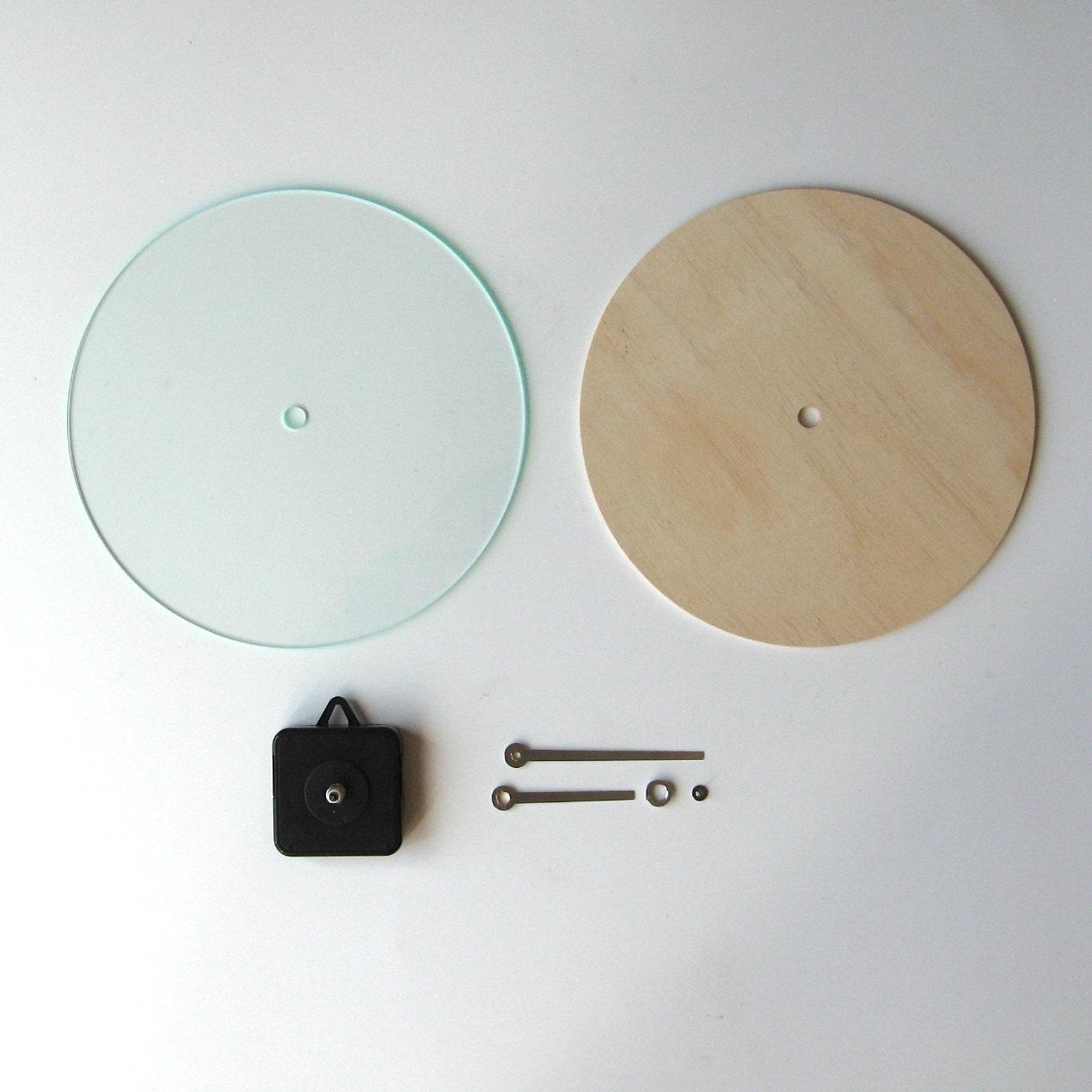 Objectify diy wall clock kit round for Diy clock