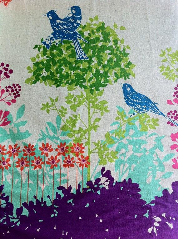 Echino Fabric Fall 2011 Wish Border Print in Purple by Etsuko Furuya (Half Yard)