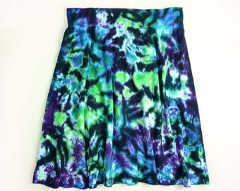 Ladies Tie Dye Skirt A Line Womens Cotton Jersey Skirt