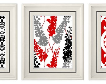 Popular items for red black wall art on Etsy