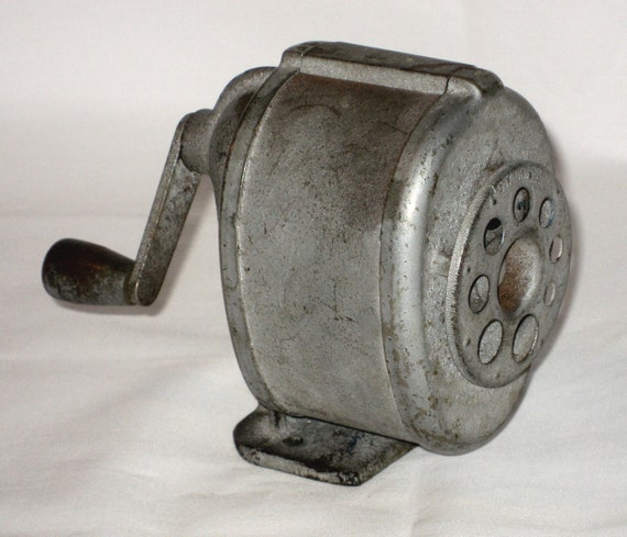 Vintage Metal Standard Pencil Sharpener Desk Mounted