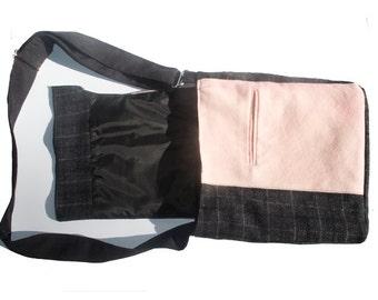 Pink and Grey IPad Bag