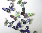 Set of 10 3D Handcrafted Butterfly Wall Art, Occassions, Tags, Packaging