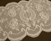 Crochet Table Runner / Large Doily / Lace Tablecloth /Ecru