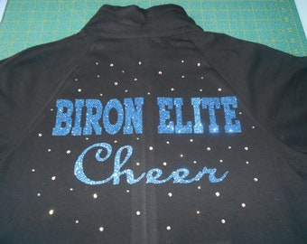 Customized Ladies' Jacket with Glitter & Rhinestones