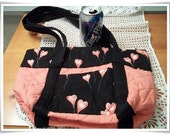 Floating Hearts Tote Bag Purse