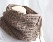 Knitting Pattern Scarf, Infinity Cowl, Mokaccino, Brown, Moka