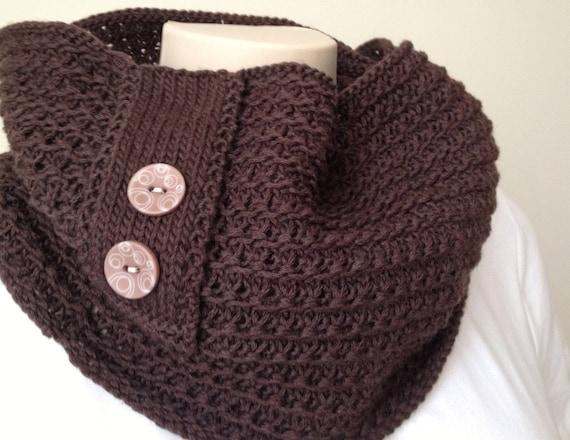 patron tricot foulard broche