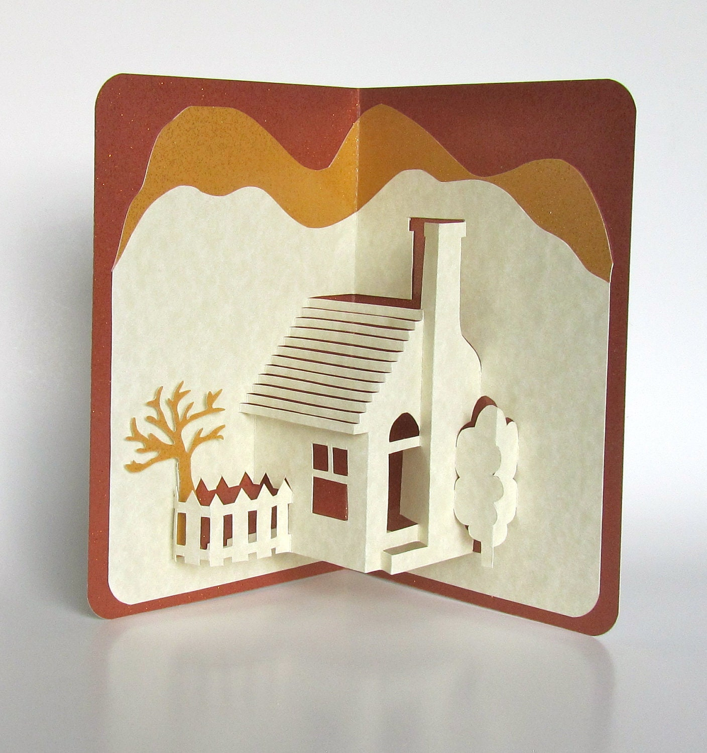 Home pop up 3d card home d cor origamic architecture handmade for Handmade items for home