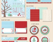 """Instant Download - Holiday Sweets Christmas Party - """"The Essentials"""" PRINTABLE Collection"""