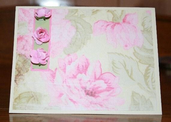 Rose-Embellished Card 20120082