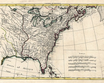 Us Map Etsy - Us map in 1776