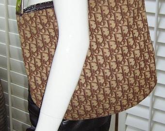 Iconic  70s CHRISTIAN DIOR Brown Monogram Hobo Handbag Purse